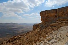 Makhtesh Ramon Crater, il deserto di Negev, Israele Fotografie Stock Libere da Diritti