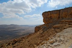 Makhtesh Ramon Crater, The Negev Desert, Israel. Makhtesh Ramon  Crater  - the largest phenomenon of it s kind in the world Royalty Free Stock Photos