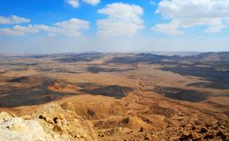 Makhtesh Ramon Crater, The Negev Desert, Israel. Makhtesh Ramon  Crater  - the largest phenomenon of it s kind in the world Royalty Free Stock Images
