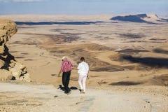 Makhtesh Ramon landskap Negev öken israel Arkivfoton
