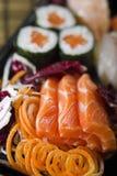 maki生鱼片寿司 库存照片