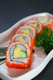 Maki σουσιών, ιαπωνική κουζίνα Στοκ εικόνα με δικαίωμα ελεύθερης χρήσης