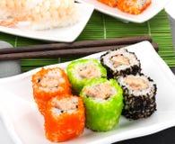 Maki суш и суши креветки Стоковое Изображение RF