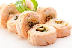 ιαπωνικά σούσια maki τροφίμων κουζίνας Στοκ εικόνα με δικαίωμα ελεύθερης χρήσης