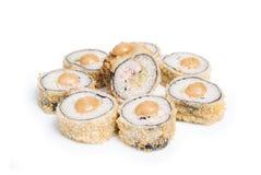 Maki arrotondato dei sushi fotografie stock libere da diritti