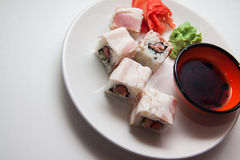 Maki with bacon Royalty Free Stock Photo