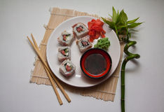 Maki with bacon Royalty Free Stock Photography