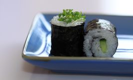 Maki cucmumber Broodje van sushi Stock Afbeelding
