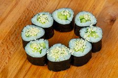 Maki with cucumber Royalty Free Stock Photo