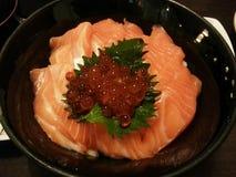 Maki de color salmón Imagen de archivo