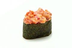 Maki de Gunkan de sushi avec le thon Photographie stock