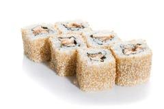 Maki del sushi en sésamo Foto de archivo