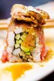 Maki di foie gras e di Waygu Fotografia Stock