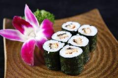 Maki of Eels sushi Stock Image