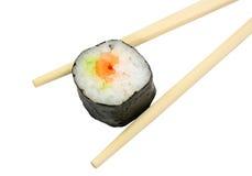 Maki met eetstokjes Royalty-vrije Stock Fotografie