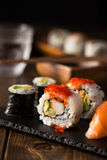 Maki and nigiri sushi royalty free stock photos