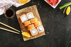 Maki Philadelphia Sushi Rolls royalty free stock images