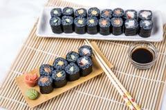Maki Roll noire assortie Photo stock