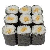 Maki rolls. Group of Japanese sushi rolls (maki rolls) isolated over white background Royalty Free Stock Images