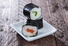 Maki rolls on a plate Stock Photo