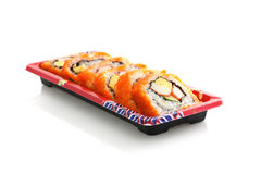 Maki Rolls in white background Stock Images