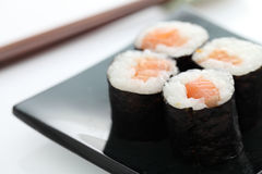 Maki Rolls in white background Stock Photos