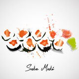 Maki with salmon set Royalty Free Stock Image
