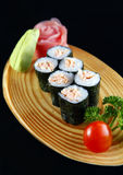 Maki of Salmon sushi Stock Photos