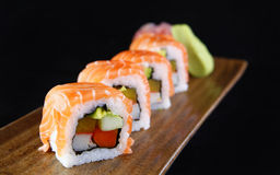 Maki salmon sushi Stock Image
