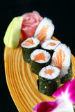Maki of salmon sushi Royalty Free Stock Photos