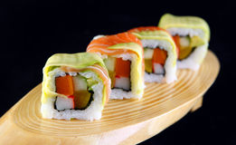 Maki salmon sushi with cheese Stock Images