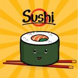 Maki Sushi-beeldverhaal Royalty-vrije Stock Afbeeldingen