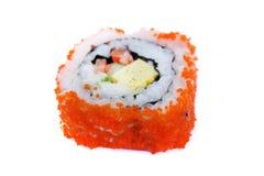 Maki sushi , California roll. Isolated on white background Royalty Free Stock Photos