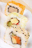 Maki sushi close-up Royalty Free Stock Photos