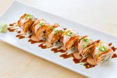 Maki Sushi eller sushisommarrad arkivfoton