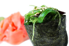 Maki sushi with green seaweed Royalty Free Stock Photography