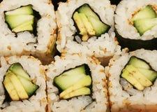 Maki Sushi makro Arkivbilder