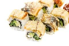 Maki Sushi mit Gurke-und Frischkäse-Thunfisch Lizenzfreie Stockfotografie