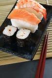 Maki sushi & nigiri sushi Royalty Free Stock Images