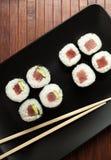 Maki sushi with raw tuna Royalty Free Stock Photos