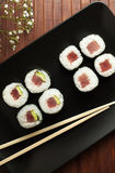 Maki sushi with raw tuna Royalty Free Stock Images