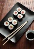 Maki sushi with raw tuna Stock Image