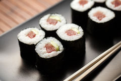 Maki sushi with raw tuna Stock Photography