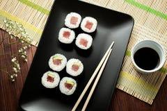 Maki sushi with raw tuna Stock Photos