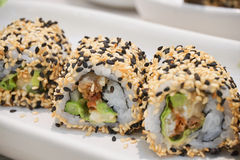 Maki Sushi - Roll with avocado. Stock Image
