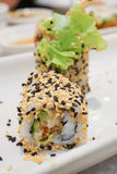 Maki Sushi - Roll with avocado. Stock Photos