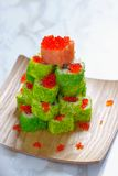 Maki Sushi Roll for Christmas Stock Photos