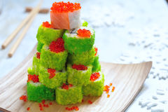 Maki Sushi Roll for Christmas Royalty Free Stock Photography