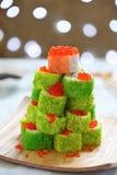 Maki Sushi Roll für Weihnachten Stockfoto