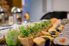 Maki sushi roll of Japanese food. A maki sushi roll of Japanese food royalty free stock photo